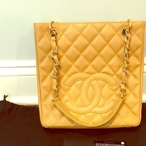 Authentic Chanel Petite timeless shopper